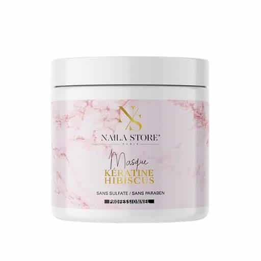 Masque capillaire sans sulfate et sans paraben   Kératine et hibiscus